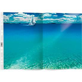 DURABLE SPECIAL PP Transparante showtassen, A3, boven open, generfd, 50 stuks