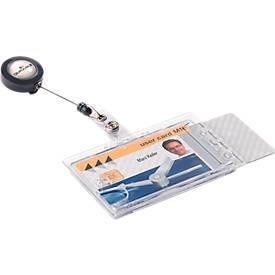 DURABLE système enrouleur pour badges avec bouton pression