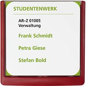Image of DURABLE Türschild CLICK SIGN, 149 x 148,5 mm, 5 Stück, rot