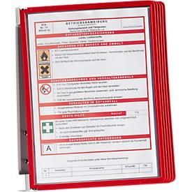 DURABLE Wandhouderset VARIO® WALL, inclusief 5 panelen, rood