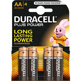 DURACELL® Batterien Plus, Mignon AA, 1,5 V, 4 Stück