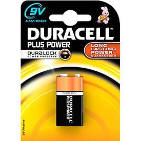 DURACELL batterij Plus Power, E-blok, 9 V, per stuk
