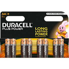 DURACELL® batterijen Plus Power Mignon AA, pak van 8 stuks