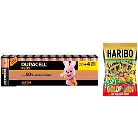 DURACELL® pile Plus Power, Mignon AA, 20 + 4 pièces