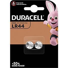 Duracell® piles boutons LR44, 3 V