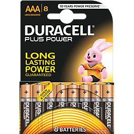 DURACELL® piles Micro AAA  PLUS POWER, paquet de 8 pièces