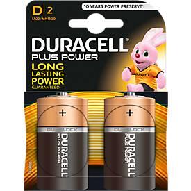 DURACELL® Piles Plus LR 20, 2 pièces