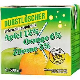 Durstlöscher Apfel, Orange, Zitrone, 500 ml