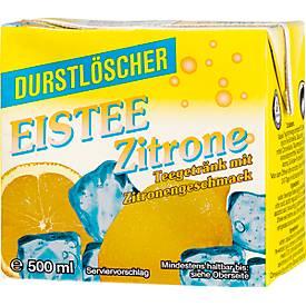 Durstlöscher-Eistee Zitrone, 12 x 0,52 l
