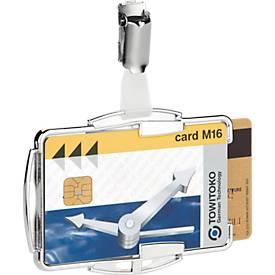 Duurzame kaarthouder RFID Secure Duo, voor 2 kaarten, met clipsluiting, 10 stuks