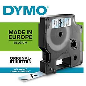 DYMO® Schriftband 40913, Typ D1, 7 m x 9 mm, UV-beständig, reißfest, schw./weiß