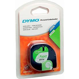 DYMO® cassette de ruban pour LetraTag, 12 mm x 4 m