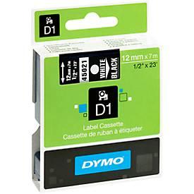 DYMO® Schriftbandkassette 45021, 12 mm, schwarz/weiß