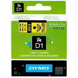 DYMO® Schriftbandkassette 6 mm, gelb/schwarz