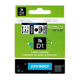 DYMO® Schriftbandkassetten 12 mm, transparent/schwarz