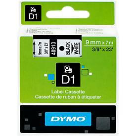 DYMO® Schriftbandkassetten 40913, 9 mm breit, weiß/schwarz