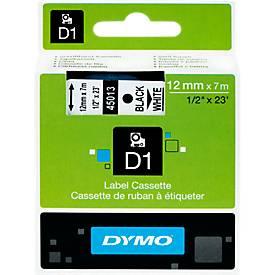 DYMO® Schriftbandkassetten 45013, 12 mm breit, weiß/schwarz
