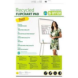 EARTH-IT Blocs pour Flipchart en papier recyclé, 70 g/m²