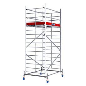 Echafaudage large mobile (alu), hauteur de travail ca. 5,30 m