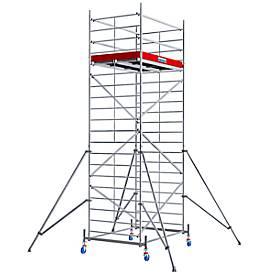 Echafaudage large mobile (alu), hauteur de travail ca. 6,30 m
