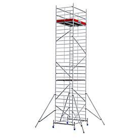 Echafaudage large mobile (alu), hauteur de travail ca. 9,30 m