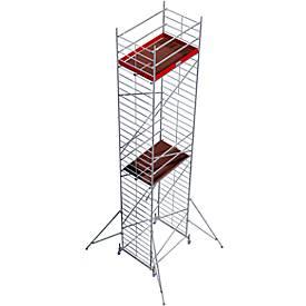 Echafaudage large mobile (alu), réglable en hauteur  ca. 10,30 m