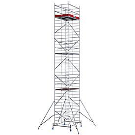 Echafaudage large mobile, hauteur de travail ca. 11,30 m