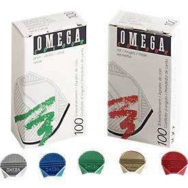 Eckenklammern Omega, bunt, 100St.