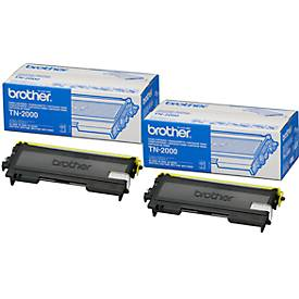 Economy pack 2-delig Brother TN-2000 Toner Cartridge TN-2000 zwart