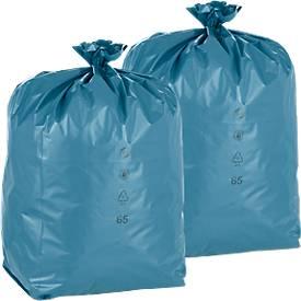 Economy set Deiss afvalzakken Premium, inhoud 120 L, materiaal LDPE, 200 stuks, inhoud 120 L, materiaal LDPE