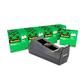 Economy set tafeldispenser Scotch® + 12 rollen plakband Scotch® Magic™ Tape, voor rollen tot B 19 mm