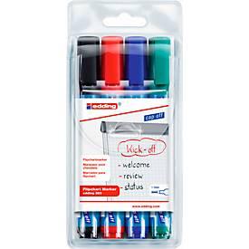 edding 380 Flipchart-Marker, farbsortiert, 4er Set