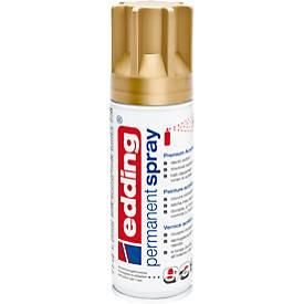 edding Spray 5200, 200 ml, Premium-Acryllack matt, Sprühbreite ca. 50-60 mm, gold matt
