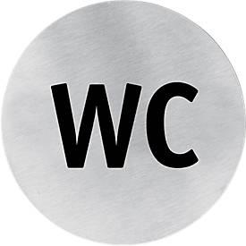 Edelstahl-Hinweisschild, WC-Herren