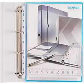 EICHNER Dehnfalten-Dokumentenhüllen, DIN A4, oben offen, rechts halboffen, 10 Stück