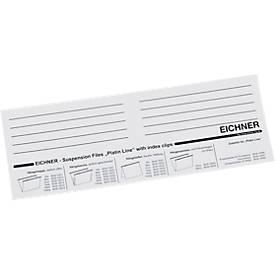 EICHNER Einsteckkarten, für Dokumentenmappe