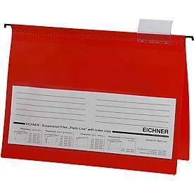 EICHNER Hängehefter,  DIN A4, 10 Stück,  rot
