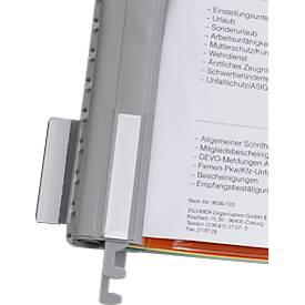 EICHNER Metall-Hängeschienen für Personalhefter, DIN A4, 10 Stück