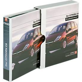 EICHNER Präsentations-Schuber+Ringbuch, A4, 4-Ring-Mechanik, diverse Rückenbreiten