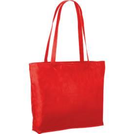 Einkaufstasche, aus 100 % Polypropylen, mit Reißverschluss, lange Henkel