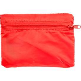 Einkaufstasche KILAMA, faltbar, Werbedruck 160 x 160 mm, 190T Polyester, rot