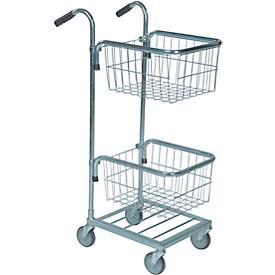 Einkaufswagen mit 2 Körben