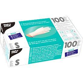 Einmalhandschuhe, Nitril, puderfrei, weiß, 100 Stück, Größe S