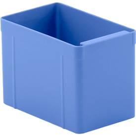 Einsatzkasten, Polystyrol, L 137 x B 87 x H 96 mm, blau, 16 Stück