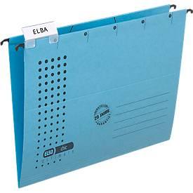 ELBA chic® ULTIMATE Hängemappen, für Formate bis DIN A4, seitlich offen, blau