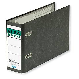 ELBA Ordner rado, A5, 75 mm, Karton, Wolkenmarmor