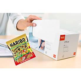 ELCO Kuvert mit Haftklebeverschluß ohne Fenster C5/6 in Box + HARIBO Saft Golbären Minis GRATIS