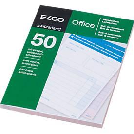 ELCO OFFICE Durchschreibeblöcke, A6, Bestell-/LS