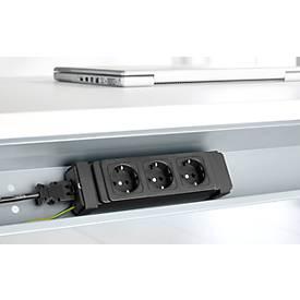 Elektrifizierungs-Set für Kabelkanäle, 3-fach Steckdose