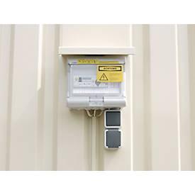 Elektrisch installatiepakket, ontwerp voor actieve/passieve opslag van ontvlambare stoffen, voor actieve/passieve opslag van brandbare stoffen.
